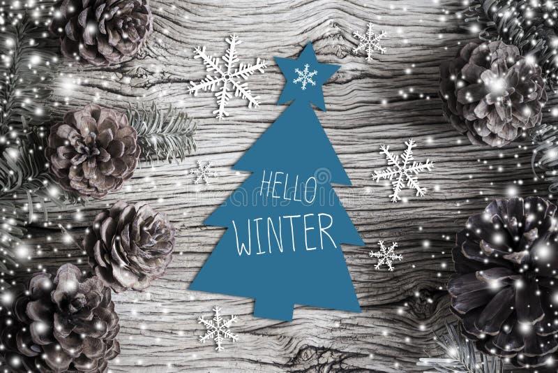 Bonjour hiver photographie stock