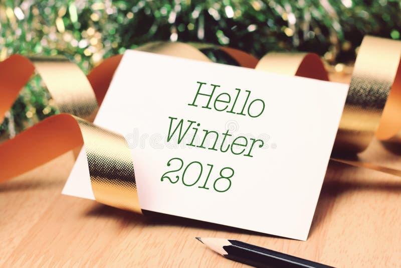 Bonjour hiver avec la décoration photo libre de droits
