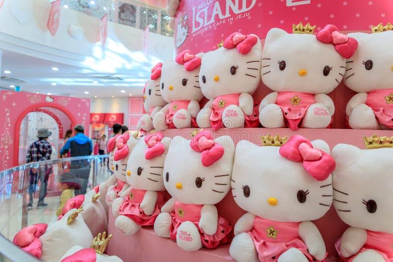 Bonjour Kitty Island, une des taches de touristes de les plus populaires en octobre images libres de droits