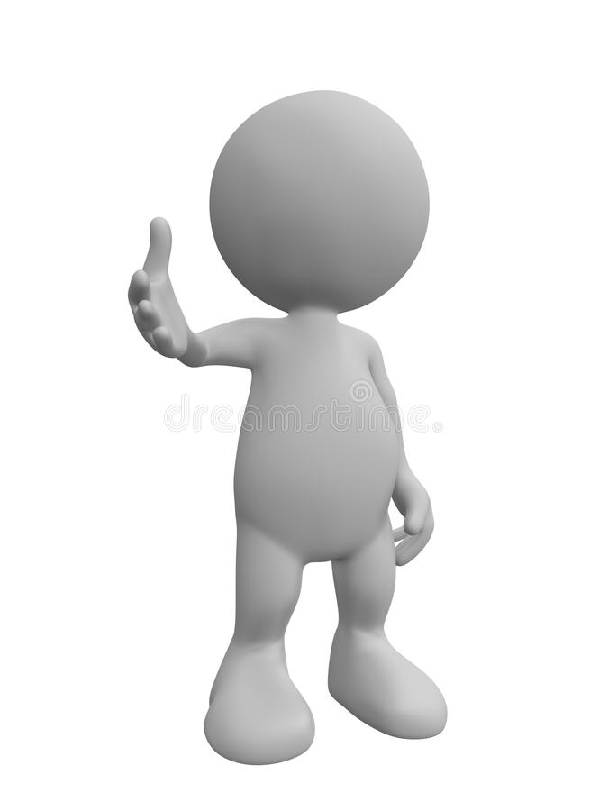 bonjour la personne 3d dit image libre de droits