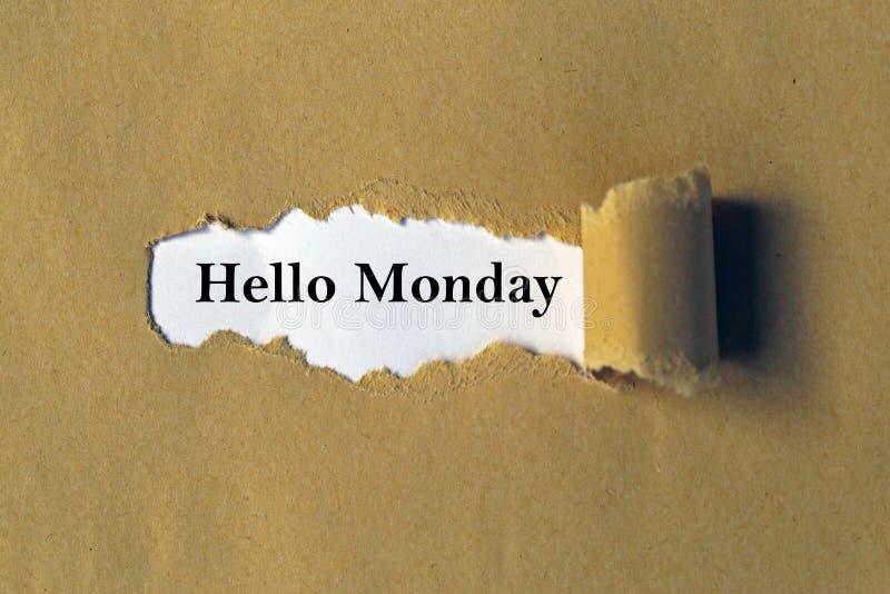 Bonjour lundi photographie stock