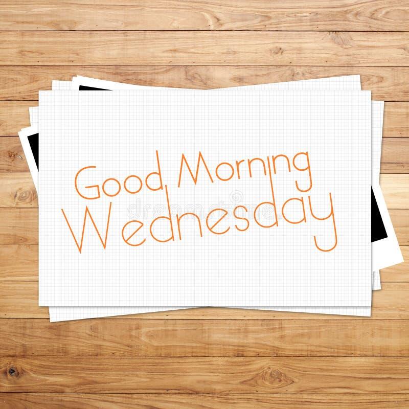 Bonjour mercredi image stock