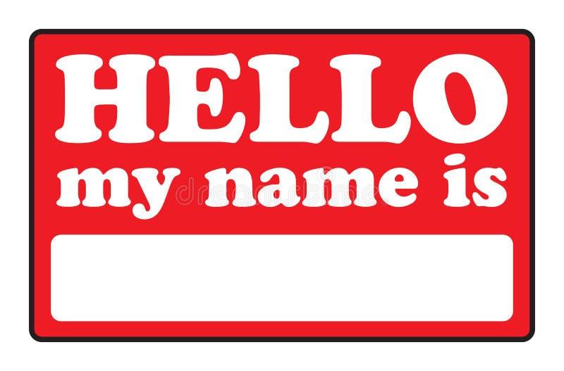 Bonjour mon nom est des étiquettes illustration libre de droits