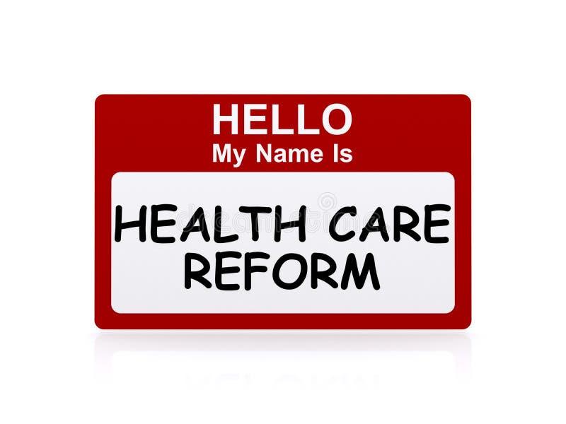 Bonjour mon nom est réforme de soins de santé illustration de vecteur