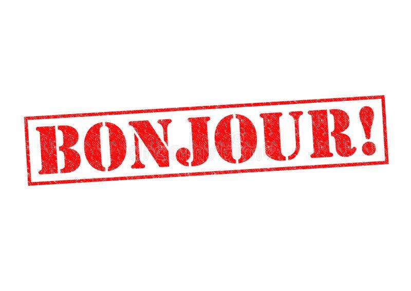 BONJOUR! stock illustration
