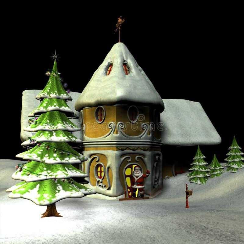 Bonjour Santa illustration stock