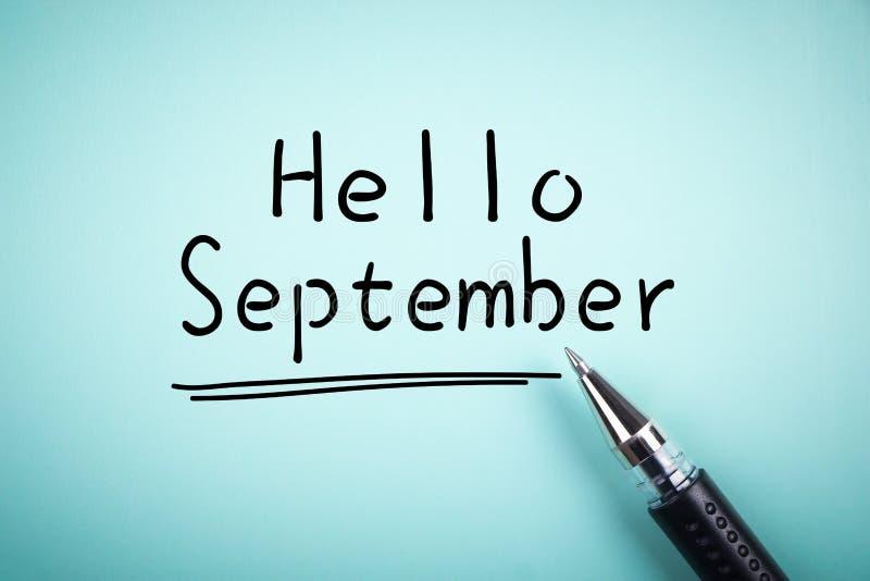 Bonjour septembre photo libre de droits