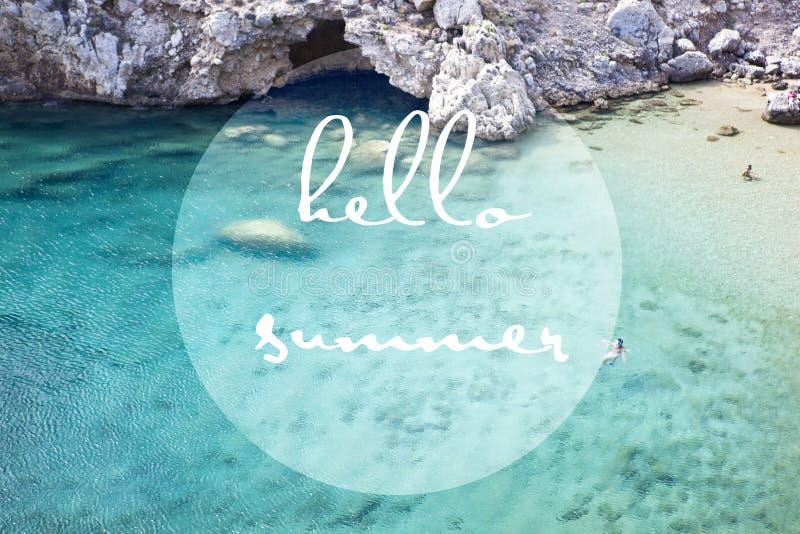 Bonjour signe de l'été 2018 photo stock