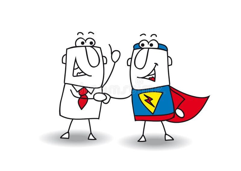 Bonjour super héros illustration stock