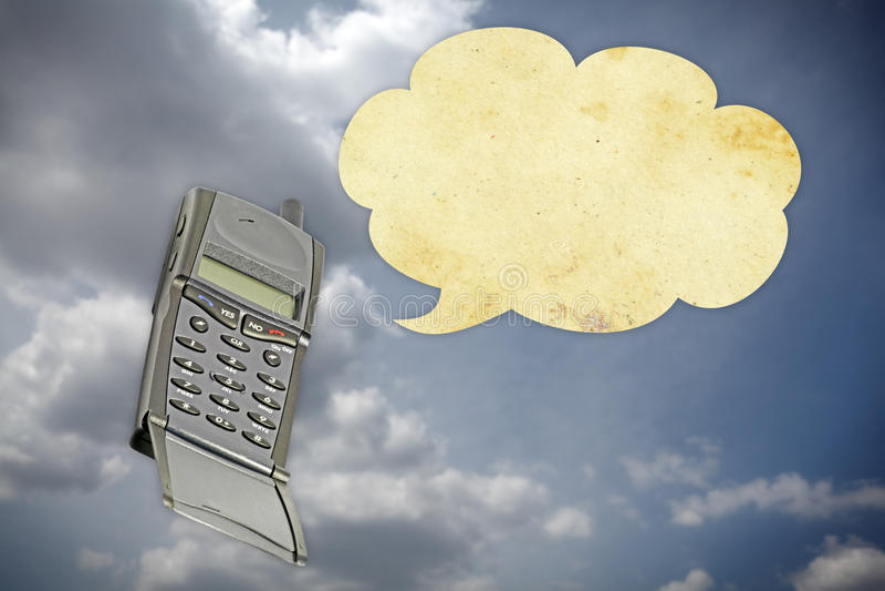 Bonjour téléphone photographie stock