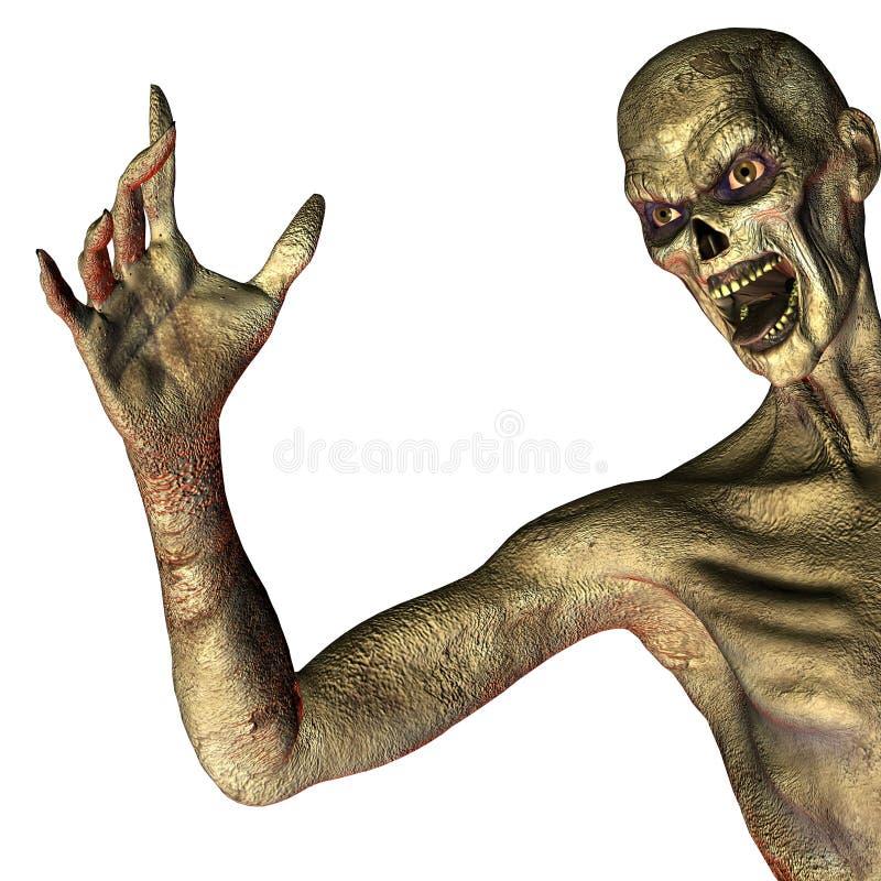 Bonjour zombi illustration stock