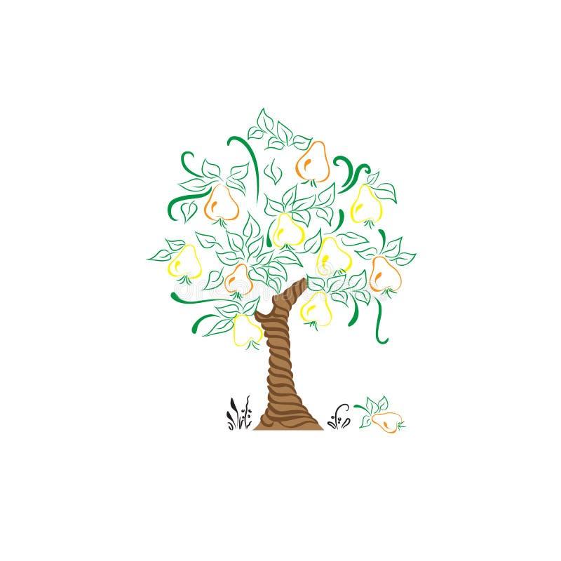 Bonkrety drzewo z liścia żniwa ogródem 2 obraz stock