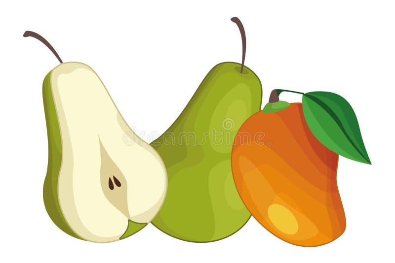Bonkrety i mangowe wyśmienicie owoc ilustracji