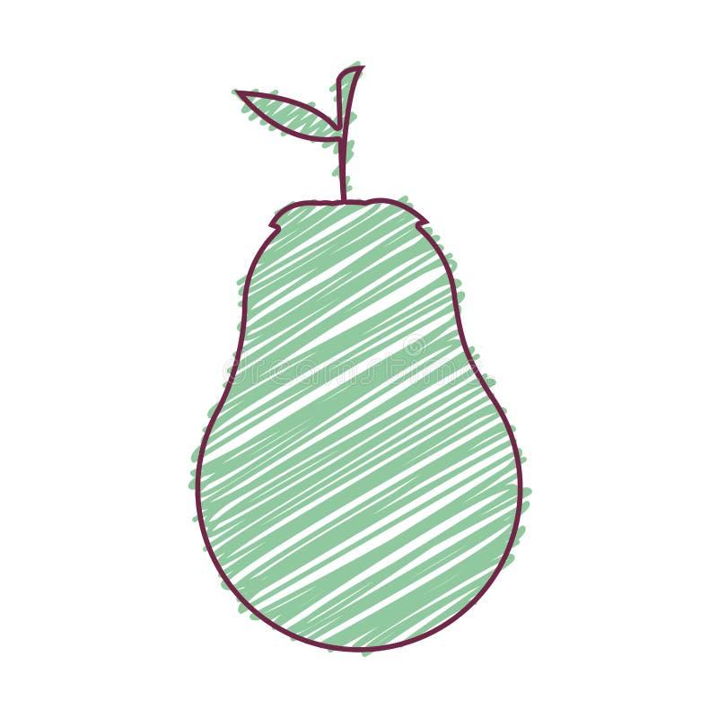 Bonkrety owoc jedzenie ilustracja wektor