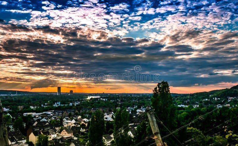 Bonn-Ansicht vom Weinberg stockfotos