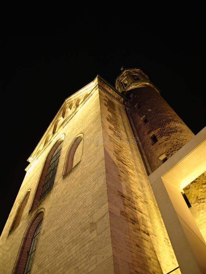 The Bonn Minster. At night stock photo