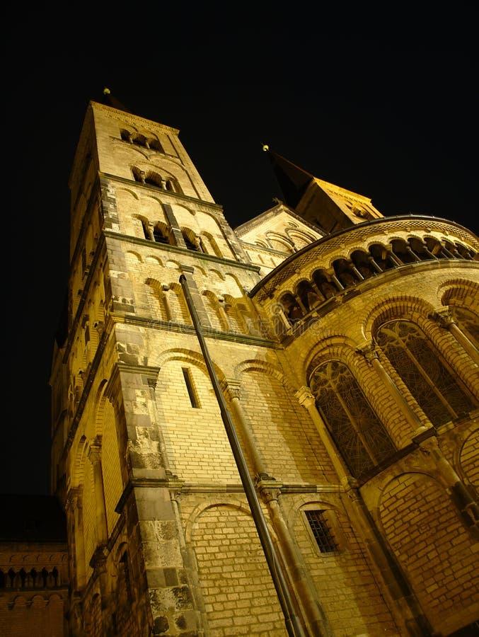The Bonn Minster. At night stock image