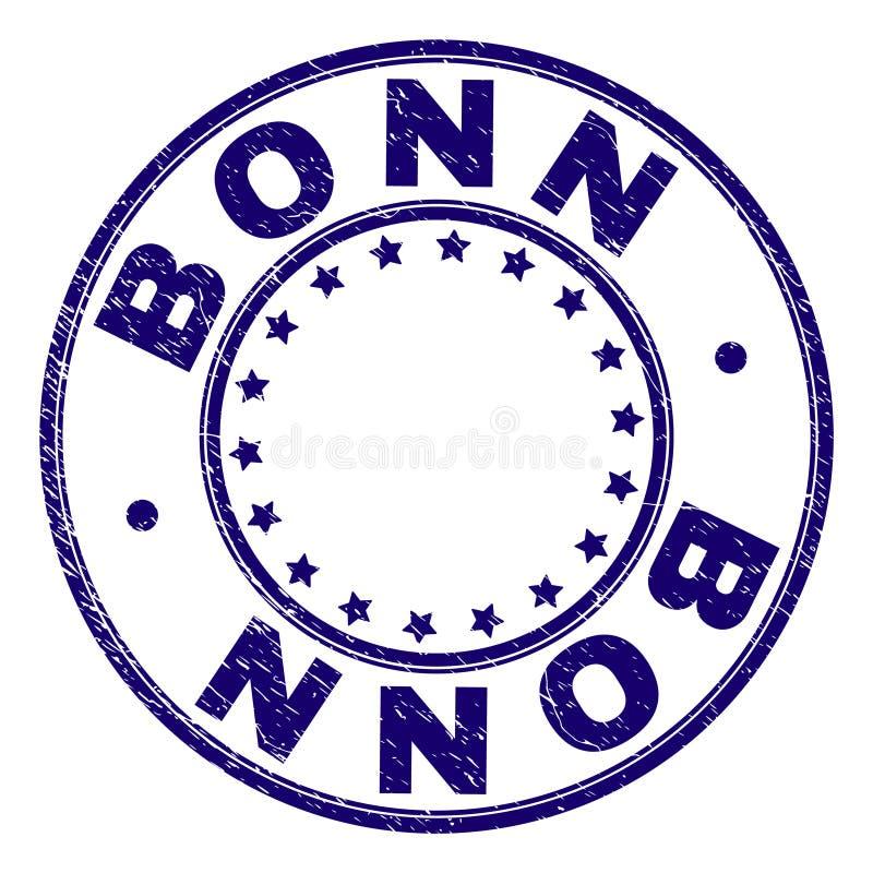 BONN texturizada rasguñada alrededor del sello del sello ilustración del vector