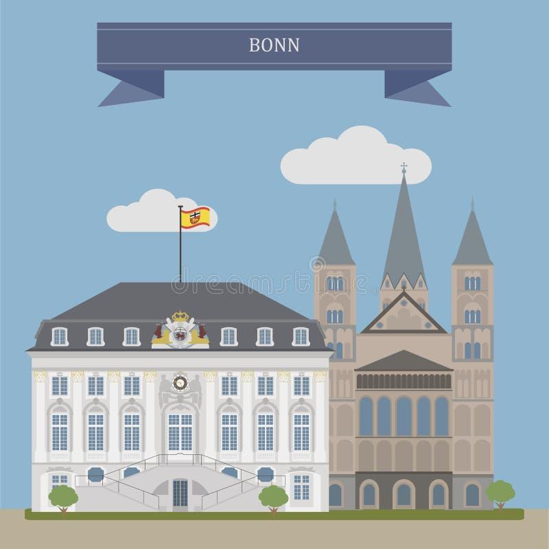 Bonn, ville en Allemagne illustration libre de droits