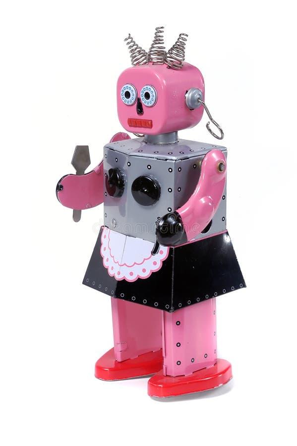 Bonne 3 - jouet de robot de cru photographie stock libre de droits