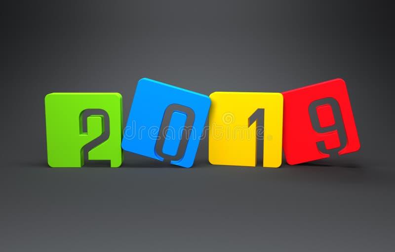 Bonne année 2019 illustration libre de droits