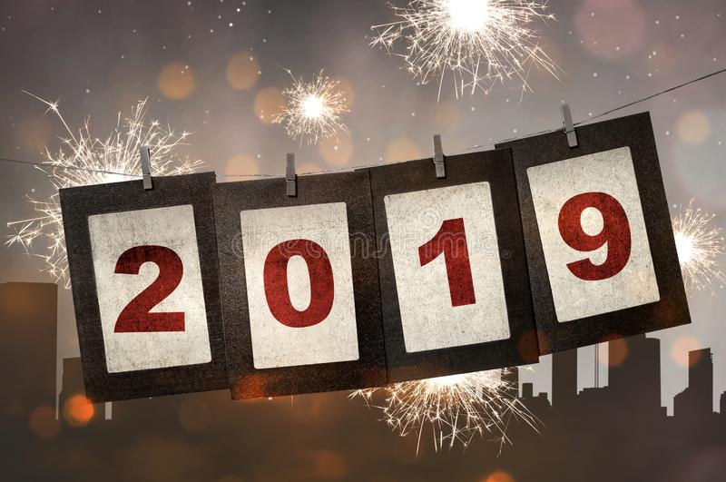Bonne année 2019 photo stock