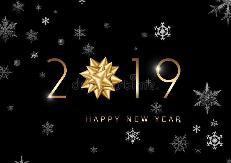 2019 - bonne année illustration libre de droits