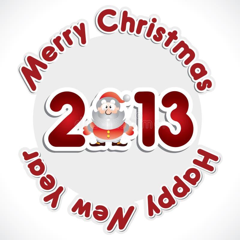 Bonne année 2013 illustration de vecteur