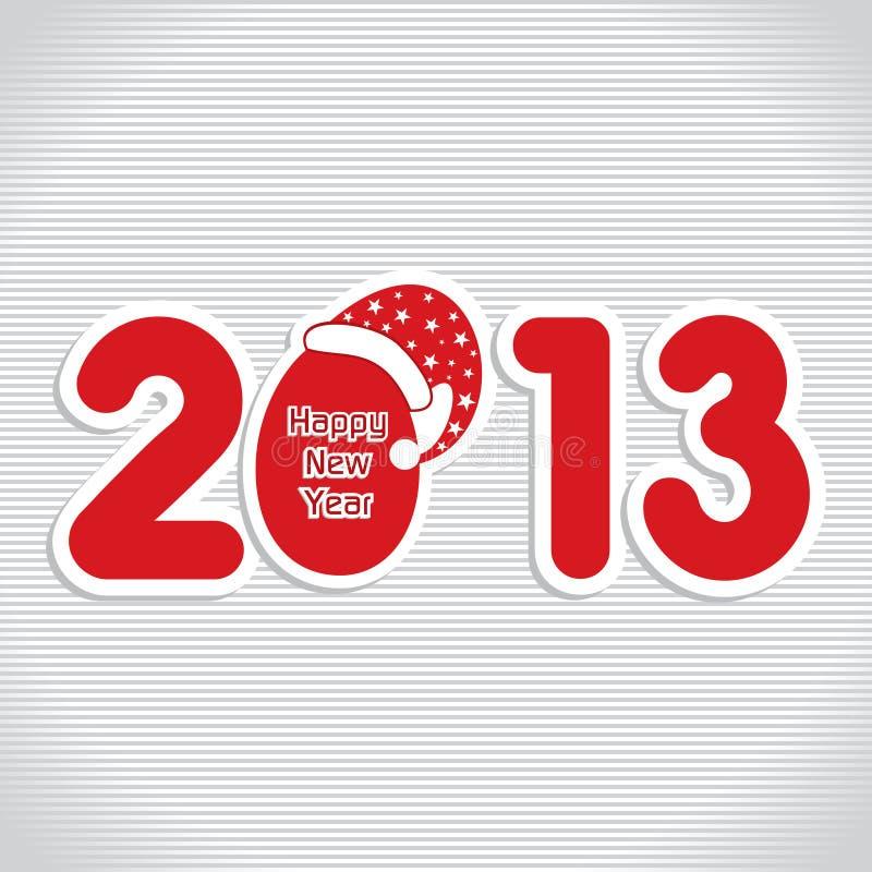 Bonne année 2013 illustration stock