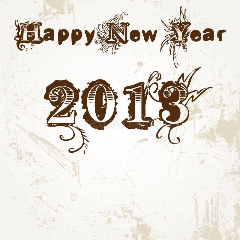 Bonne année 2013 illustration libre de droits