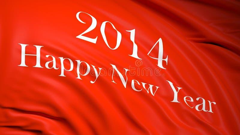 Bonne année 2014 illustration de vecteur