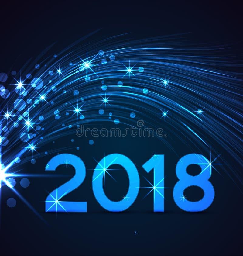 Bonne année 2018 illustration libre de droits