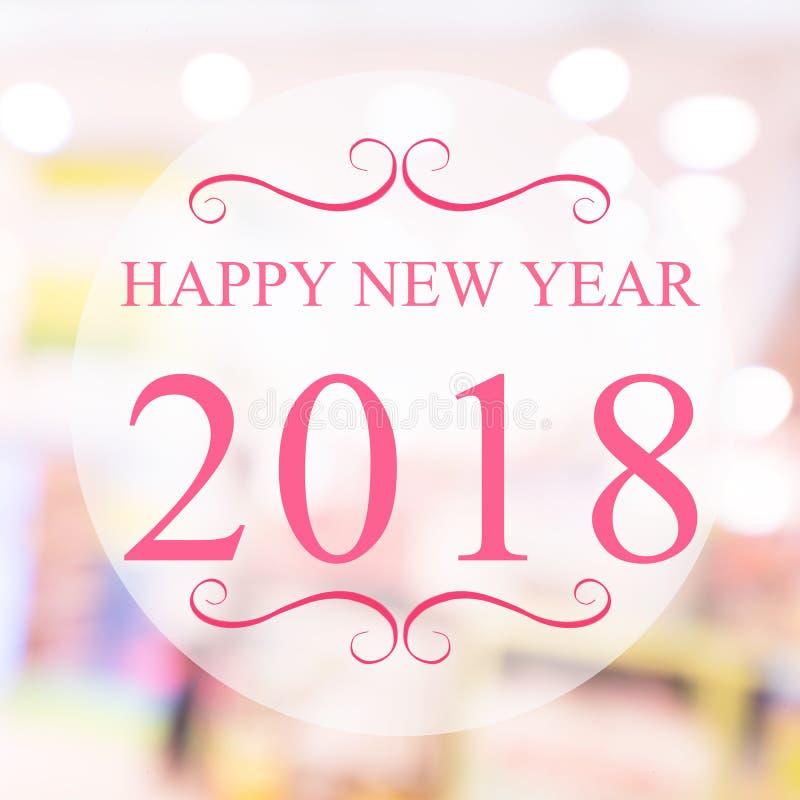 Bonne année 2018 ans sur le beau fond m de achat de tache floue photos stock