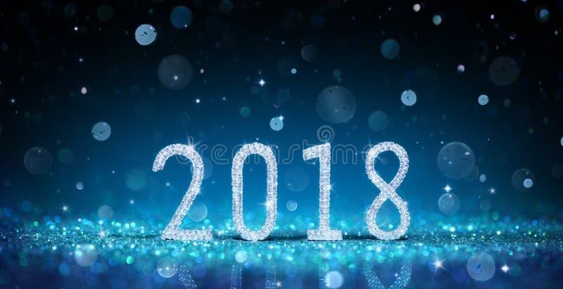 2018 - Bonne année avec Diamond Numbers image libre de droits