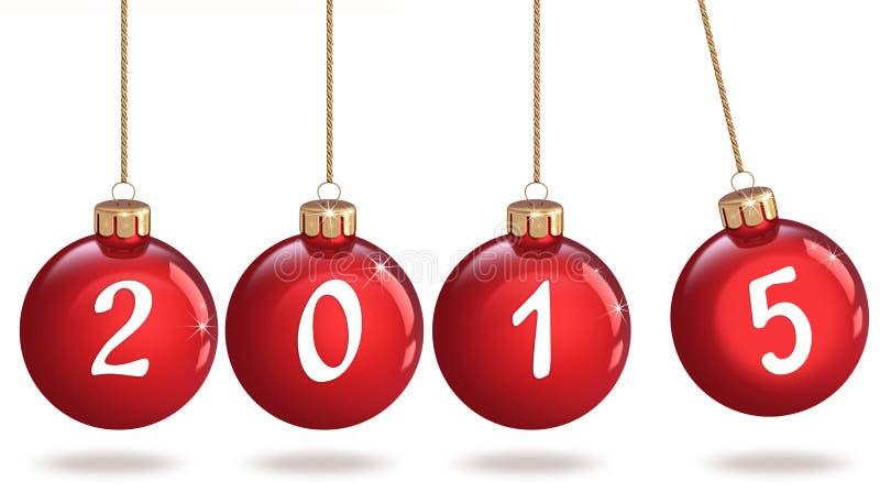 Bonne année 2015, babiole de Noël photographie stock libre de droits