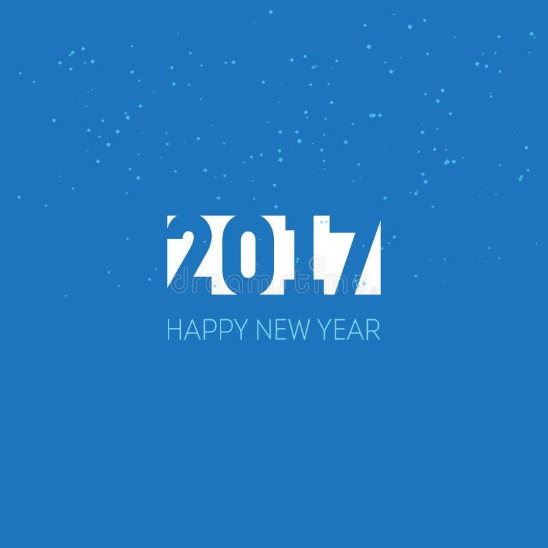Bonne année 2017 Calibre de design de carte de salutation Le VE universel illustration libre de droits