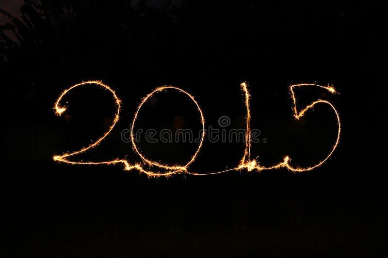 Bonne année - cierge magique 2015 photos stock