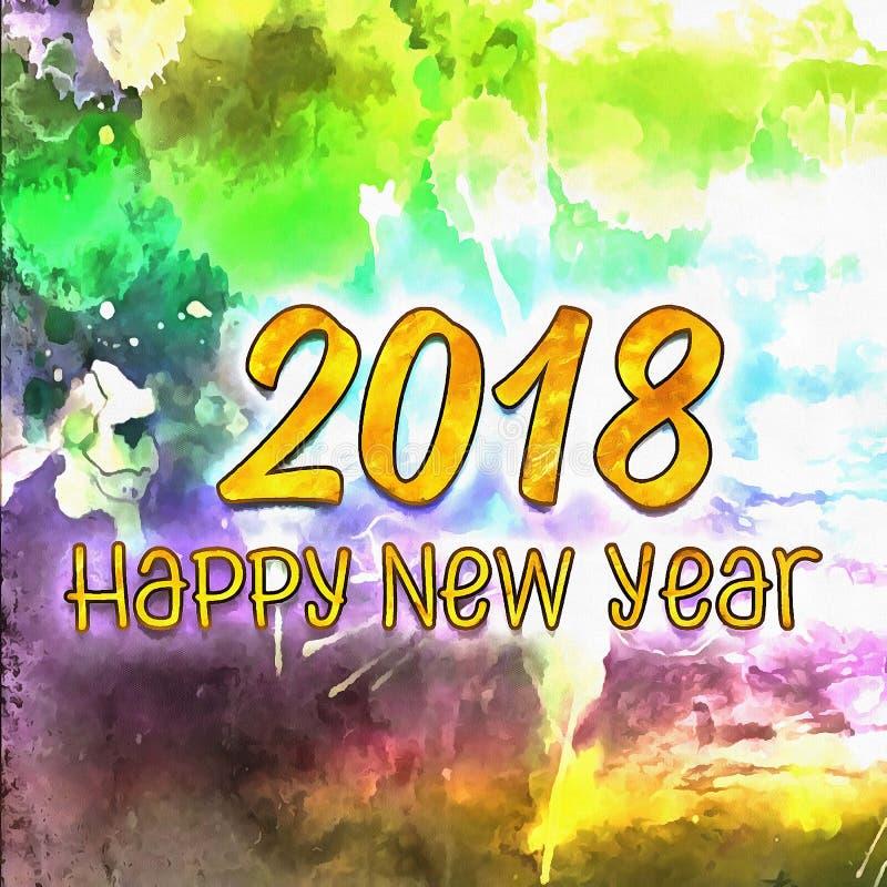 Bonne année colorée 2018/de fond illustration stock