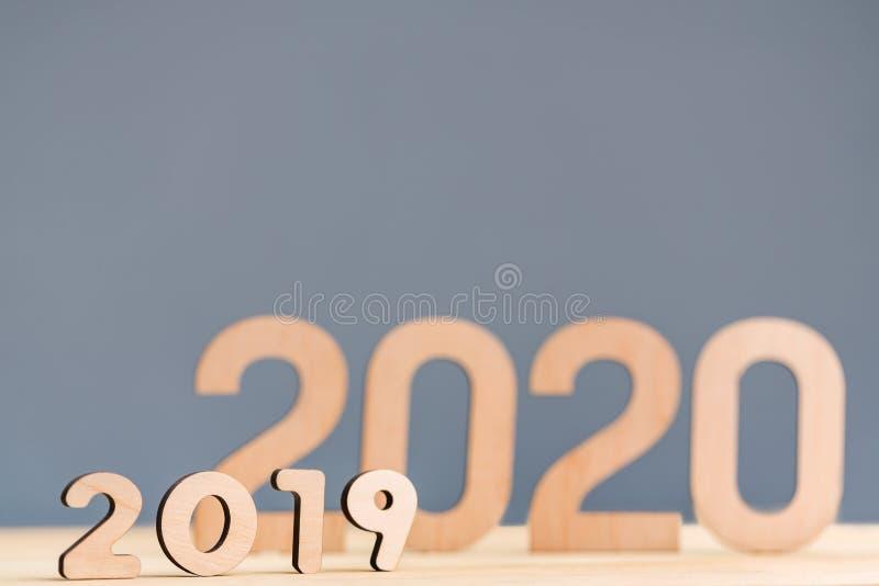Bonne année 2020 et au revoir vieux concept 2019 photo stock