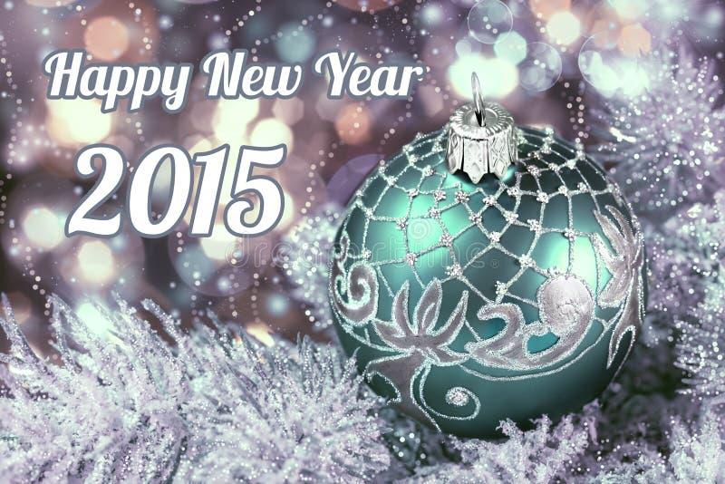 Bonne année 2015, image modifiée la tonalité image stock