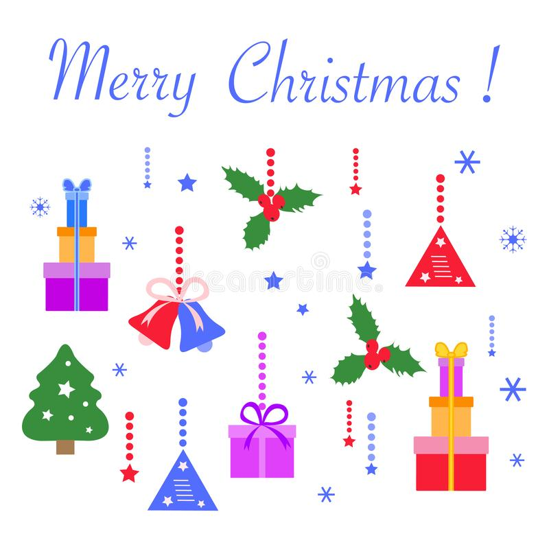 Bonne année 2020, Joyeux Noël symbole illustration stock