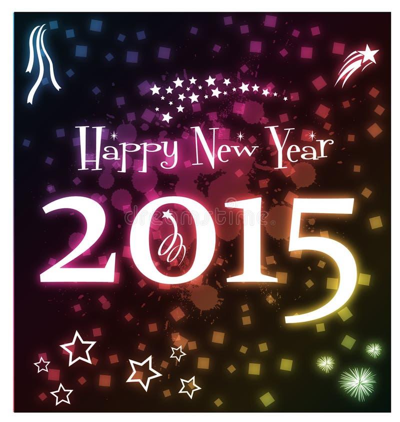 Bonne année rougeoyante 2015 photos libres de droits