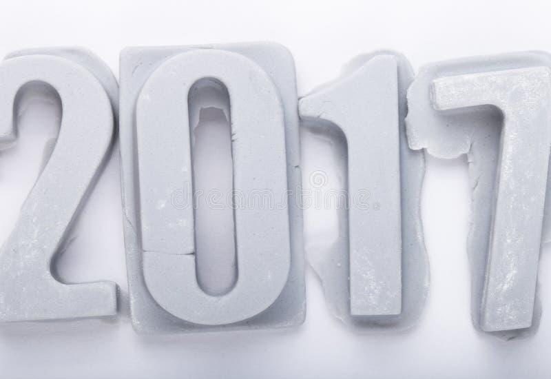 Download Bonne Année 2017 Sur Le Bacground Blanc Figures De Mastic Ou D'escroquerie Photo stock - Image du calendrier, carte: 77151328