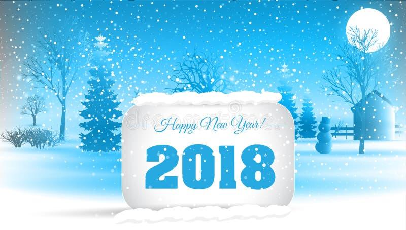 Bonne année 2018 Vecteur ENV 10 photo stock