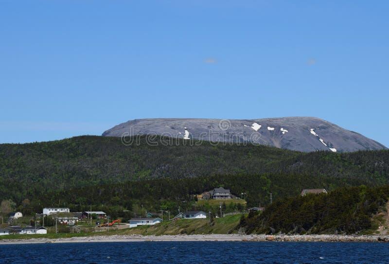 Bonne Bay view towards the Gros Morne mountain royalty free stock photo