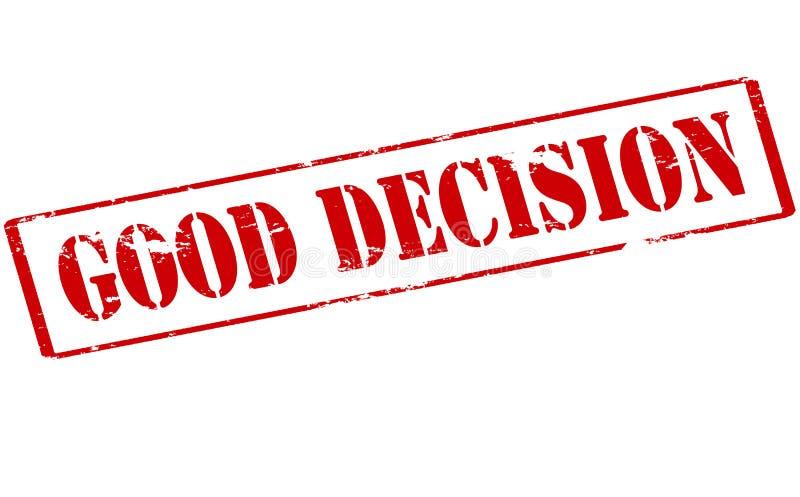 Bonne décision illustration libre de droits