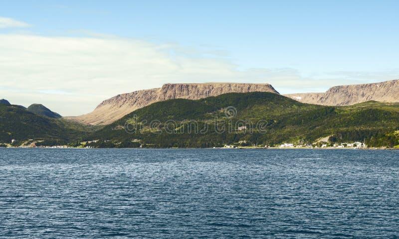 Bonne fjärd, Gros Morne National Park, Newfoundland och labrador royaltyfria bilder