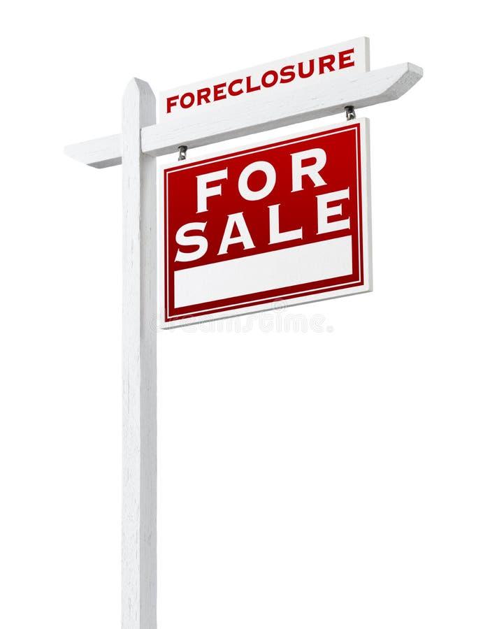 Bonne forclusion de revêtement vendue pour le signe de Real Estate de vente d'isolement photo stock