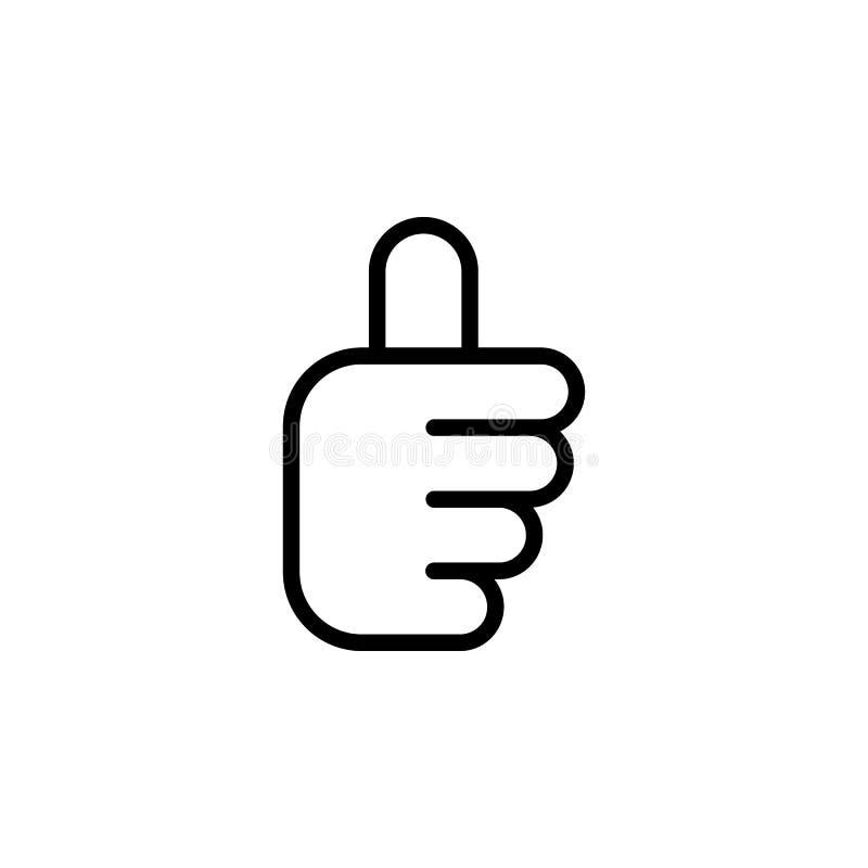 Bonne icône d'ensemble de geste de main Élément d'icône d'illustration de geste de main des signes, symboles peuvent être employé illustration libre de droits