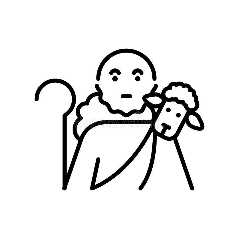 Bonne icône de berger, illustration illustration stock